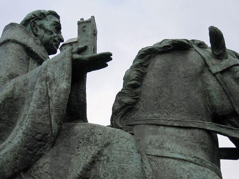 Standbeeld Willibrord op Sint-Janskerkhof Utrechtrord